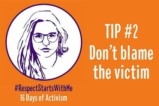 Tip#2 Don't blame the victim