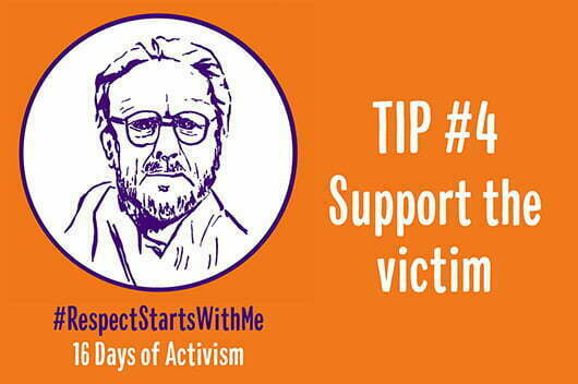Support the victim