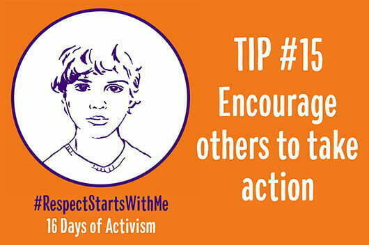 Encourage others to take action